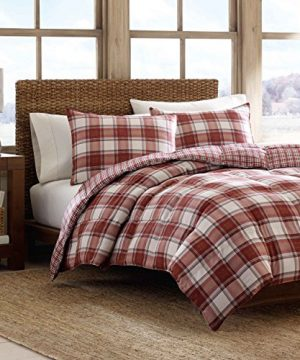 Eddie Bauer Edgewood Plaid Down Alternative Reversible Comforter Set King Red 0 300x360