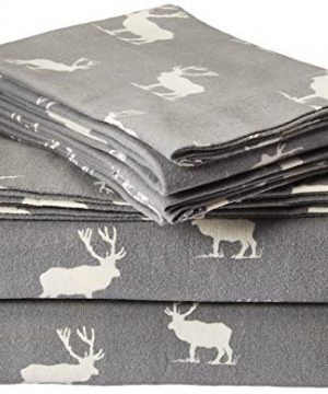Eddie Bauer Elk Grove Flannel Sheet Set Queen 0 300x360