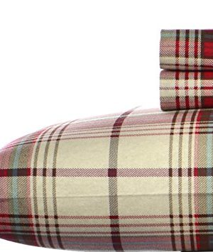 Eddie Bauer Montlake Plaid Flannel Sheet Set Queen 0 300x355