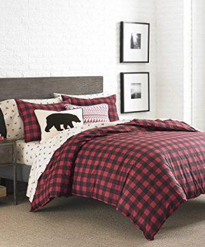 Eddie Bauer Mountian Mountain Plaid Comforter Set King Scarlet Red 0 300x360