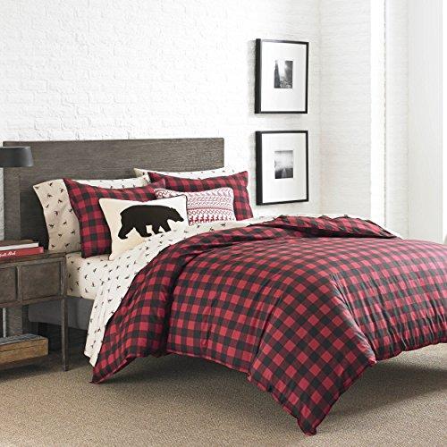 Eddie Bauer Mountian Mountain Plaid Comforter Set King Scarlet Red 0