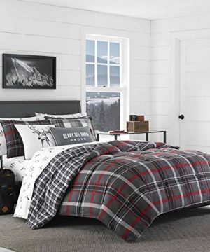 Eddie Bauer Willow Plaid Comforter Set FullQueen Dark Grey 0 300x360