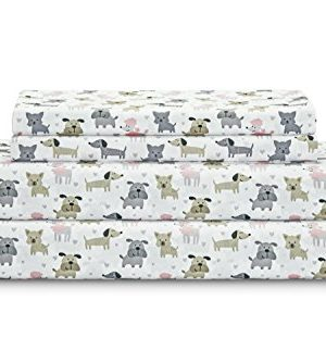 Elite Home Microfiber 90 GSM Deep Pocket Whimsical Printed Sheet Set 0 300x334