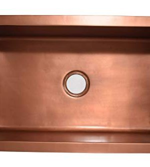 Empire Industries VE30S Versailles Farmhouse Copper Kitchen Sink With Grid And Strainer 30 0 2 300x333