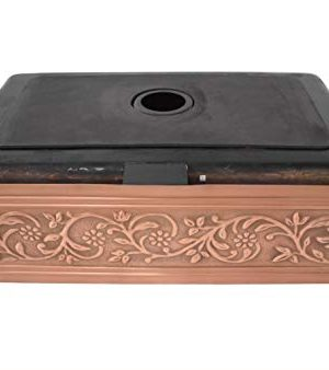 Empire Industries VE30S Versailles Farmhouse Copper Kitchen Sink With Grid And Strainer 30 0 4 300x338