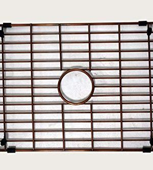 Empire Industries VE30S Versailles Farmhouse Copper Kitchen Sink With Grid And Strainer 30 0 5 300x333