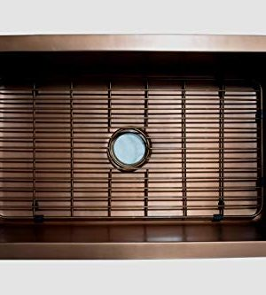 Empire Industries VE33S Versailles Farmhouse Copper Kitchen Sink With Grid And Strainer 33 0 0 300x333