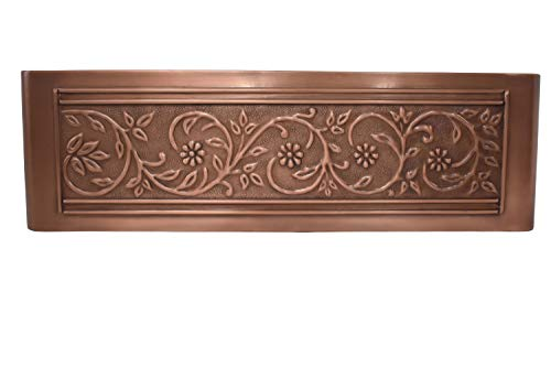 Empire Industries VE33S Versailles Farmhouse Copper Kitchen Sink With Grid And Strainer 33 0 1