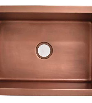 Empire Industries VE33S Versailles Farmhouse Copper Kitchen Sink With Grid And Strainer 33 0 2 300x333