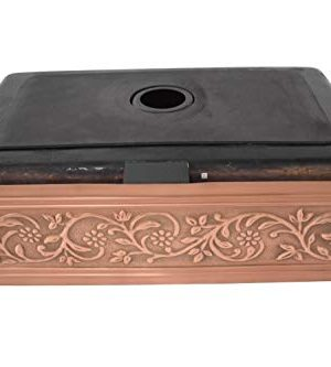 Empire Industries VE33S Versailles Farmhouse Copper Kitchen Sink With Grid And Strainer 33 0 3 300x333