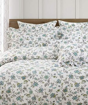 FADFAY Duvet Cover Set Full Farmhouse Bedding Vintage Shabby Floral Bedding 100 Cotton Super Soft Hypoallergenic Princess Ruffle Designer Bedding With Hidden Zipper Closure 3 Pieces Full Size 0 0 300x360