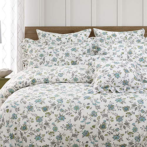 FADFAY Duvet Cover Set Full Farmhouse Bedding Vintage Shabby Floral Bedding 100 Cotton Super Soft Hypoallergenic Princess Ruffle Designer Bedding With Hidden Zipper Closure 3 Pieces Full Size 0 0