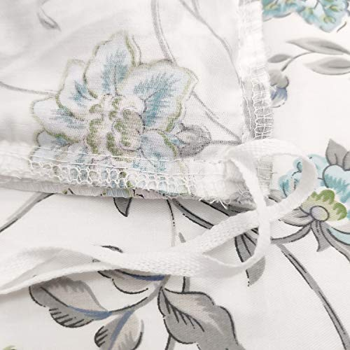 FADFAY Duvet Cover Set Full Farmhouse Bedding Vintage Shabby Floral Bedding 100 Cotton Super Soft Hypoallergenic Princess Ruffle Designer Bedding With Hidden Zipper Closure 3 Pieces Full Size 0 2