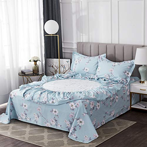 FADFAY Farmhouse Sheets Set Full Size Premium 100 Cotton Simple Floral Comfortor Cover Ultra Soft And Hypoallergenic Designer Bedding 4 Pieces1 Flat Sheet 1 Fitted Sheet2 Pillowshams 0 0
