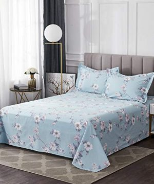 FADFAY Farmhouse Sheets Set Full Size Premium 100 Cotton Simple Floral Comfortor Cover Ultra Soft And Hypoallergenic Designer Bedding 4 Pieces1 Flat Sheet 1 Fitted Sheet2 Pillowshams 0 1 300x360