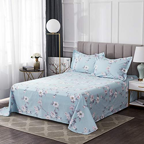 FADFAY Farmhouse Sheets Set Full Size Premium 100 Cotton Simple Floral Comfortor Cover Ultra Soft And Hypoallergenic Designer Bedding 4 Pieces1 Flat Sheet 1 Fitted Sheet2 Pillowshams 0 1