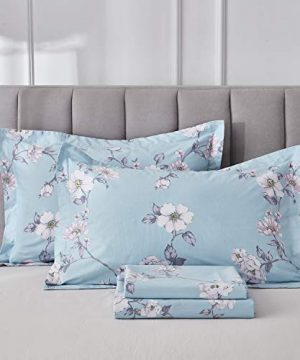 FADFAY Farmhouse Sheets Set Full Size Premium 100 Cotton Simple Floral Comfortor Cover Ultra Soft And Hypoallergenic Designer Bedding 4 Pieces1 Flat Sheet 1 Fitted Sheet2 Pillowshams 0 300x360
