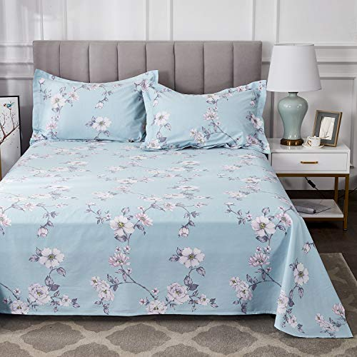FADFAY Farmhouse Sheets Set Full Size Premium 100 Cotton Simple Floral Comfortor Cover Ultra Soft And Hypoallergenic Designer Bedding 4 Pieces1 Flat Sheet 1 Fitted Sheet2 Pillowshams 0 5