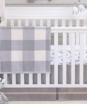 Farmhouse Grey 3 Piece Baby Crib Bedding Set Rustic Country Theme 0 300x360