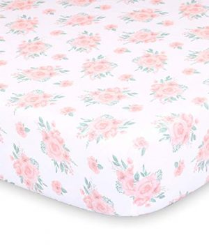 Farmhouse Pink 3 Piece Baby Crib Bedding Set Floral Rustic Country Theme 0 2 300x360