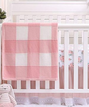 Farmhouse Pink 3 Piece Baby Crib Bedding Set Floral Rustic Country Theme 0 300x360