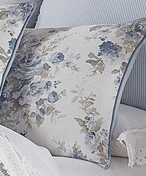 Five Queens Court Frannie 100 Cotton Floral Farmhouse Comforter Set Blue King 110x96 0 0 300x360