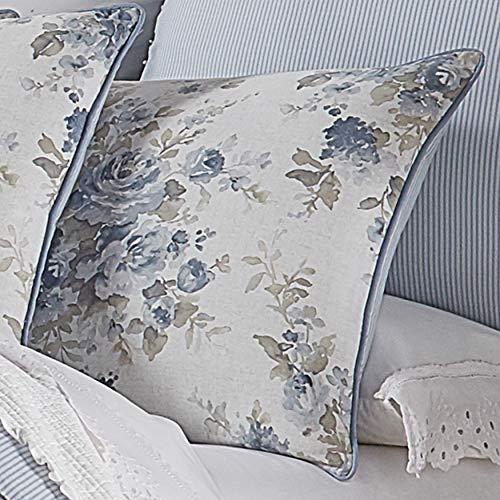Five Queens Court Frannie 100 Cotton Floral Farmhouse Comforter Set Blue King 110x96 0 0