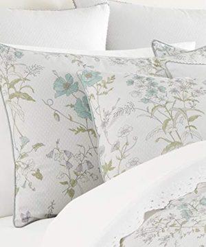 Five Queens Court Kate Swiss Dot 100 Cotton Floral Farmhouse Comforter Set White FullQueen 92x96 0 0 300x360