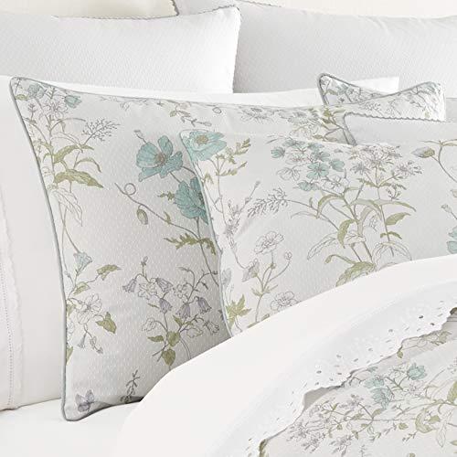 Five Queens Court Kate Swiss Dot 100 Cotton Floral Farmhouse Comforter Set White FullQueen 92x96 0 0