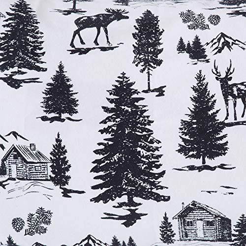Great Bay Home Extra Soft Printed 100 Turkish Cotton Flannel Sheet Set Warm Cozy Luxury Winter Bed Sheets Belle Collection Twin December Frost 0 5