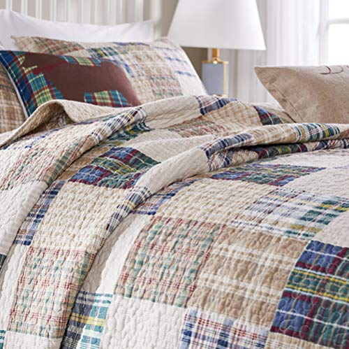 Greenland Home 3 Piece Oxford Quilt Set King Multicolor 0 1