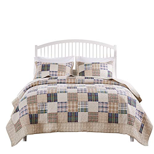 Greenland Home 3 Piece Oxford Quilt Set King Multicolor 0 2