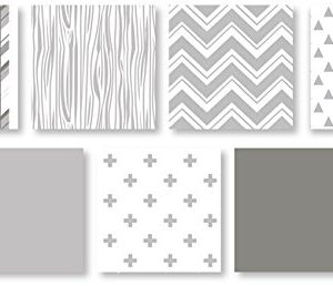 Grey And White Woodsy Deer Boy Girl Unisex Baby Crib Bedding Set Without Bumper By Sweet JoJo Designs 4 Pieces 0 1 300x258