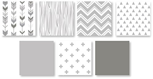 Grey And White Woodsy Deer Boy Girl Unisex Baby Crib Bedding Set Without Bumper By Sweet JoJo Designs 4 Pieces 0 1