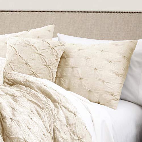 Hnu 5 Pieces Pintuck Comforter Set King, Mid Century Queen Bedspread