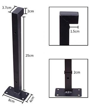 Heavy Duty Industrial Shelf Brackets 10 Floating Metal Shelving Supports With Lip Wall Mounted Retro Shelves Hardware Brace For DIY Decor Or Custom Wall Shelving 2 Pack Black 0 1 300x360