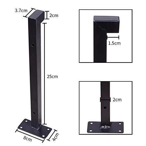 Heavy Duty Industrial Shelf Brackets 10 Floating Metal Shelving Supports With Lip Wall Mounted Retro Shelves Hardware Brace For DIY Decor Or Custom Wall Shelving 2 Pack Black 0 1