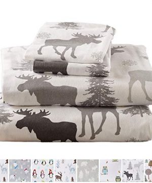 Home Fashion Designs Flannel Sheets Queen Winter Bed Sheets Flannel Sheet Set Moose Flannel Sheets 100 Turkish Cotton Flannel Sheet Set Stratton Collection Queen Moose 0 300x360