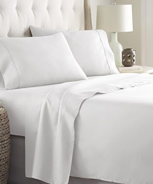 Hotel Luxury Bed Sheets Set 1800 Series Platinum Collection Deep PocketWrinkle Fade Resistant KingWhite 0 0 300x360