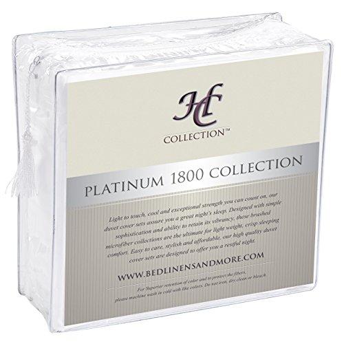 Hotel Luxury Bed Sheets Set 1800 Series Platinum Collection Deep PocketWrinkle Fade Resistant KingWhite 0 2