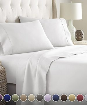 Hotel Luxury Bed Sheets Set 1800 Series Platinum Collection Deep PocketWrinkle Fade Resistant KingWhite 0 300x360
