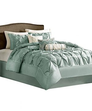 House Of Hampton Elegant Stylish Premium Quality Ashton Seafoam 7 Piece King Size Comforter Set 1 Comforter 2 King Shams 1 Bed Skirt 3 Decorative Pillows 0 300x360