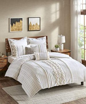 INKIVY Imani Cotton Comforter Mini Set Ivory 0 300x360