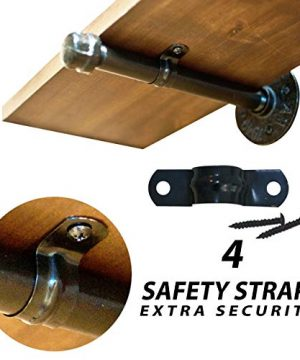 Industrial Pipe Shelf Brackets With Heavy Duty Screws Shelf Brackets 10 Inch Pipe Brackets For Shelving For Your Farmhouse Rustic Decor Pipe Brackets For Shelving 0 2 300x360