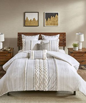InkIvy Imani Duvet Cover Mini Set Ivory 0 300x360