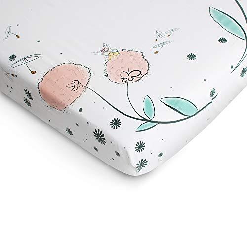 JumpOff Jo 100 Cotton Crib Sheet Fairy Blossoms 0 3