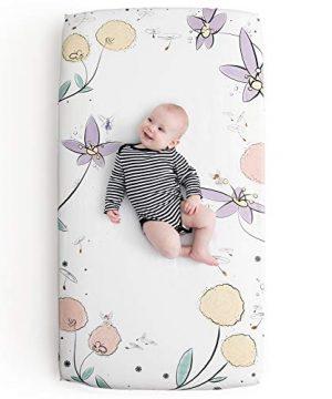 JumpOff Jo 100 Cotton Crib Sheet Fairy Blossoms 0 300x360