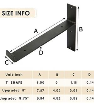 KINGSO Metal Wall Shelf Brackets 8L X 6H Rustic Shelf Supports Flush Fit Hardware Only Bracket Set Of 2 Includes Screws Wall Anchors 0 0 300x360