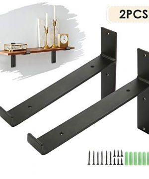 KINGSO Metal Wall Shelf Brackets 8L X 6H Rustic Shelf Supports Flush Fit Hardware Only Bracket Set Of 2 Includes Screws Wall Anchors 0 300x360