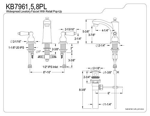 Kingston Brass KB7965PL Victorian Widespread Lavatory Faucet Oil Rubbed Bronze 0 1